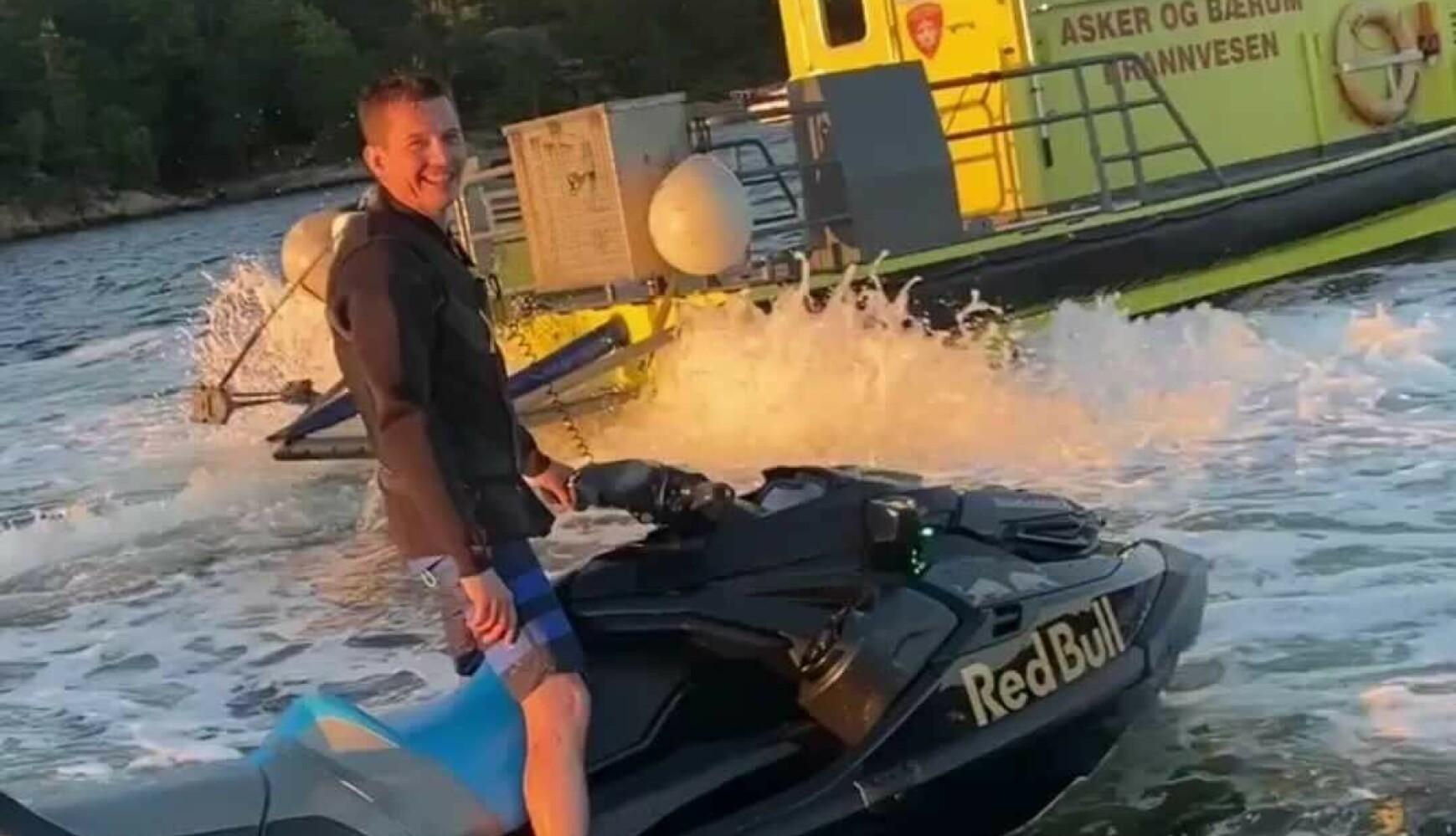ERFAREN: Per Kristian Grette har kjørt vannscooter aktivt siden 2013. Foto: Privat