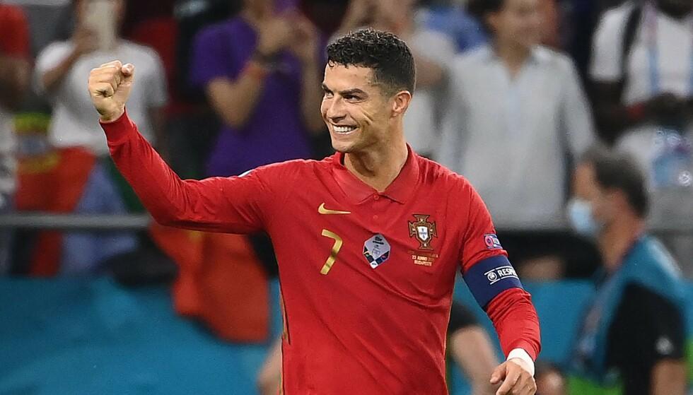 REKORD PÅ REKORD: Christiano Ronaldo tangerte rekorden til Ali Daei. Foto: AFP/NTB