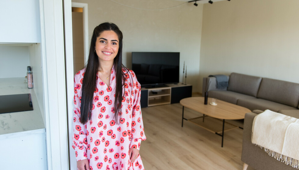 NY BOLIG: Viyan Yildiz (24) stilte med en halv million kroner i egenkapital da hun kjøpte sin første leilighet ved årsskiftet. Foto: Carina Johansen / Dagbladet