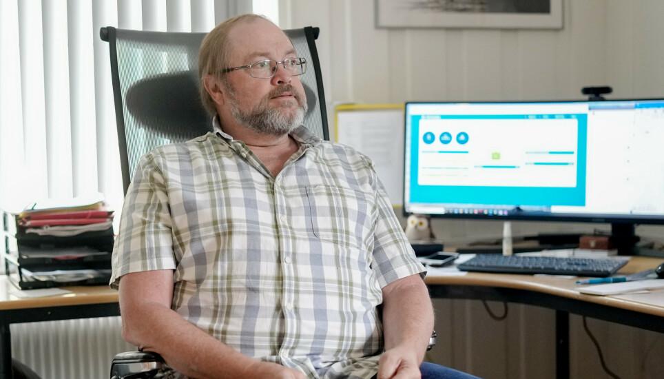 SPENT: Kommuneoverlege i Grimstad, Vegard Vige, innrømmer at han er spent på utviklingen av coronautbruddet. Foto: Fredrik Hagen / Dagbladet