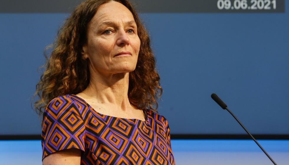 SER TIL DANMARK: Direktør i Folkehelseinstituttet Camilla Stoltenberg. Foto: Berit Roald / NTB