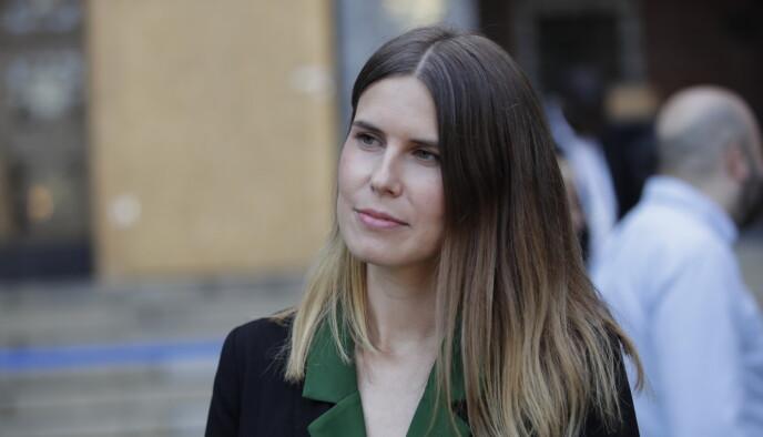 ERSTATTER BERG: Sirin Hellvin Stav (MDG) blir hovedstadens byråd for miljø og samferdsel etter Lan Marie Berg. Foto: Hanna Johre / NTB