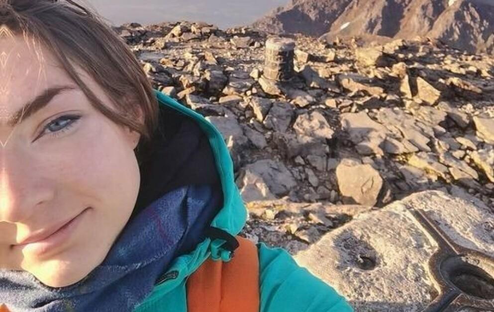 SAVNET: 24 år gamle Sarah Buick publiserte tirsdag morgen en selfie på sin Facebook-profil. Foto: Scotland Police
