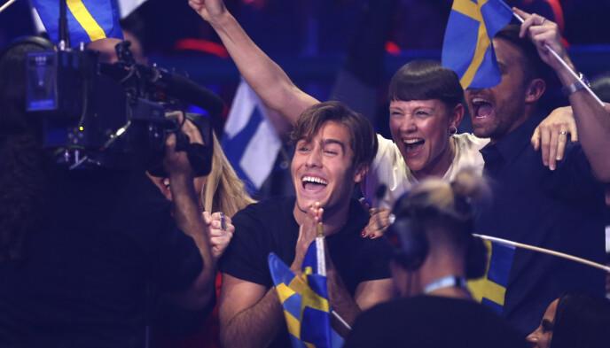 2018: Benjamin Ingrosso ha rappresentato la Svezia durante l'Eurovision nel 2018 con la canzone Dance You Off.  Foto: Armando Franca/AP/NTB
