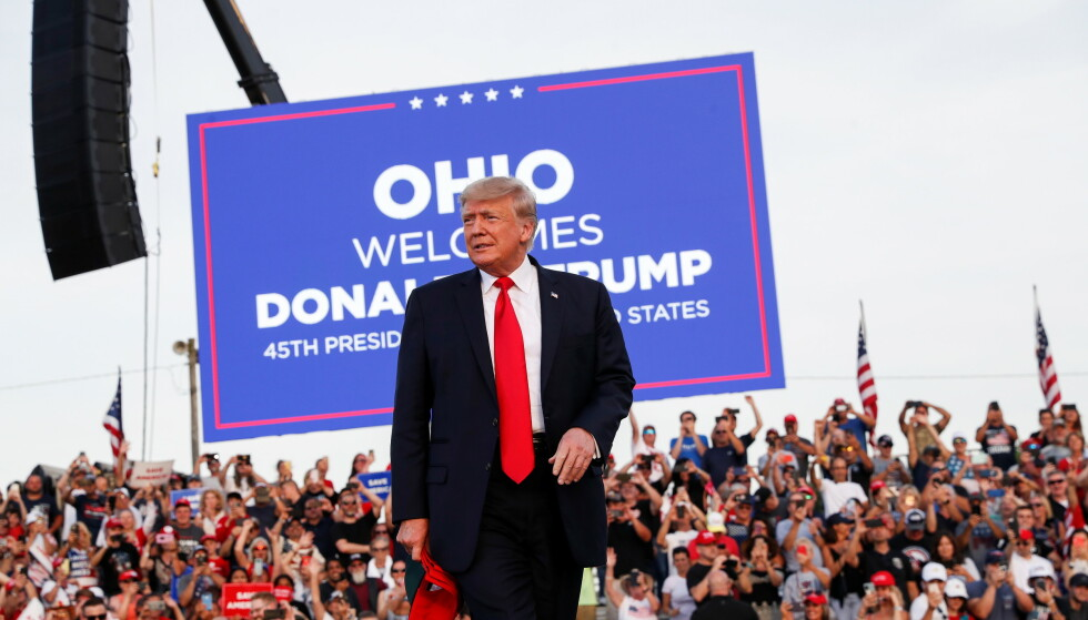 TILBAKE: I natt gjorde USAs tidligere president Donald Trump comeback med sitt første rally siden talen i forkant av stormingen av Kongressen 6. januar. Foto: Shannon Stapleton / Reuters / NTB