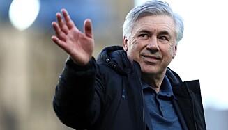 PASSET PÅSKREVET: Joshua King er på ingen måte fornøyd med Carlo Ancelotti. Foto: Jan Kruger / POOL / AFP.