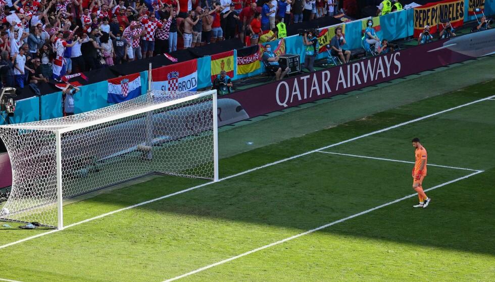 GIGA-TABBE: Spanias keeper Unai Simon hadde en