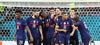 Mbappé bommet: Frankrike ute