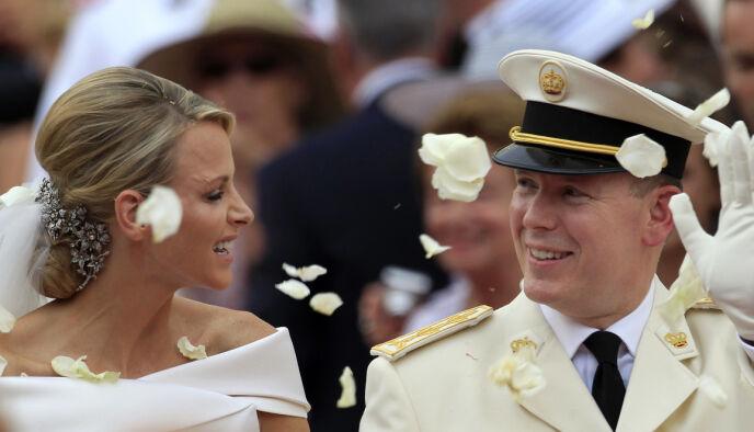 GIFT: 2. juli 2011 ga Charlene og Albert hverandre sitt ja. Foto: Jean Paul Pelissier / AP Photo / NTB
