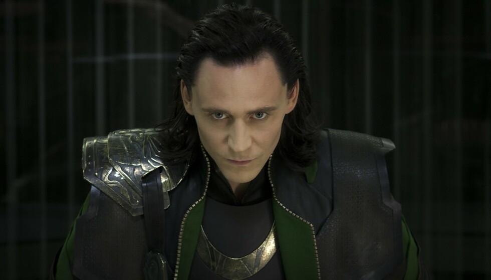 RASER: En underskriftskampanje krever at Disney slutter med en antatt verkemarebeskytting av norrøne guder. Bilde fra Avengers, hvor Tom Hiddelston spiller Loke. Mandatory Credit: Photo by Marvel Enterprises/Kobal/REX/NTB