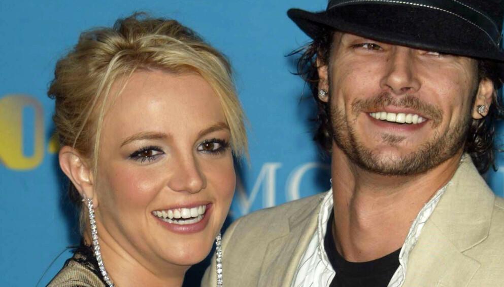 STØTTER EKSKONA: Kevin Federline og Britney Spears hadde et svært offentlig forhold og er foreldre sammen til to gutter. Foto: Peter Brooker/REX/NTB