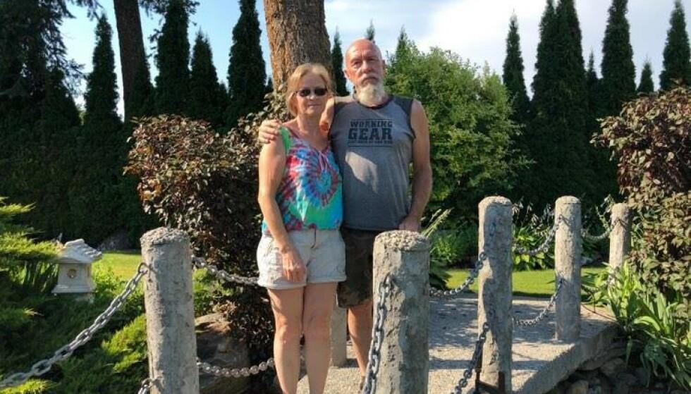 BEKYMRET: Ekteparet Donna og Tony Lysne fortviler over hetebølgen som herjer Canada og deler av USA. Foto: Privat