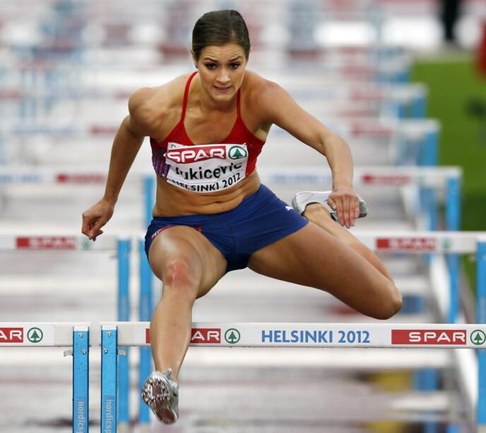 Vorige activiteit: Kristina Vukisevic op de 100 m tijdens de Europese kampioenschappen in Helsinki 2012. Foto: Lise Åserud / NTB