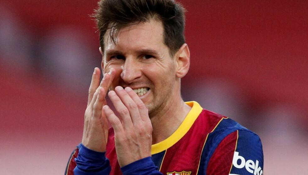 ARBEIDSLEDIG: Lionel Messi kom til Barcelona i 2003, men står nå uten kontrakt. Foto: Albert Gea/Reuters