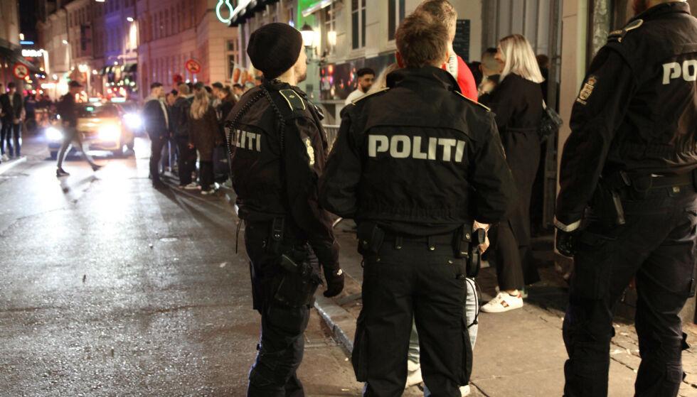 NEI: Danmark kan nå forby folk å oppholde seg i «nattelivssoner». Foto: Rigspoliti