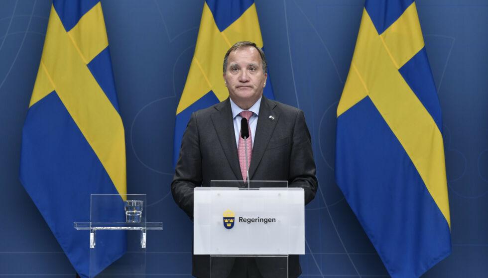 SKJØR MAKTBALANSE: Stefan Löfven har ledet landet i sju år, men ikke i noen av disse åra har de rødgrønne partiene hatt flertall. Foto: Stina Stjernkvist/TT / NTB