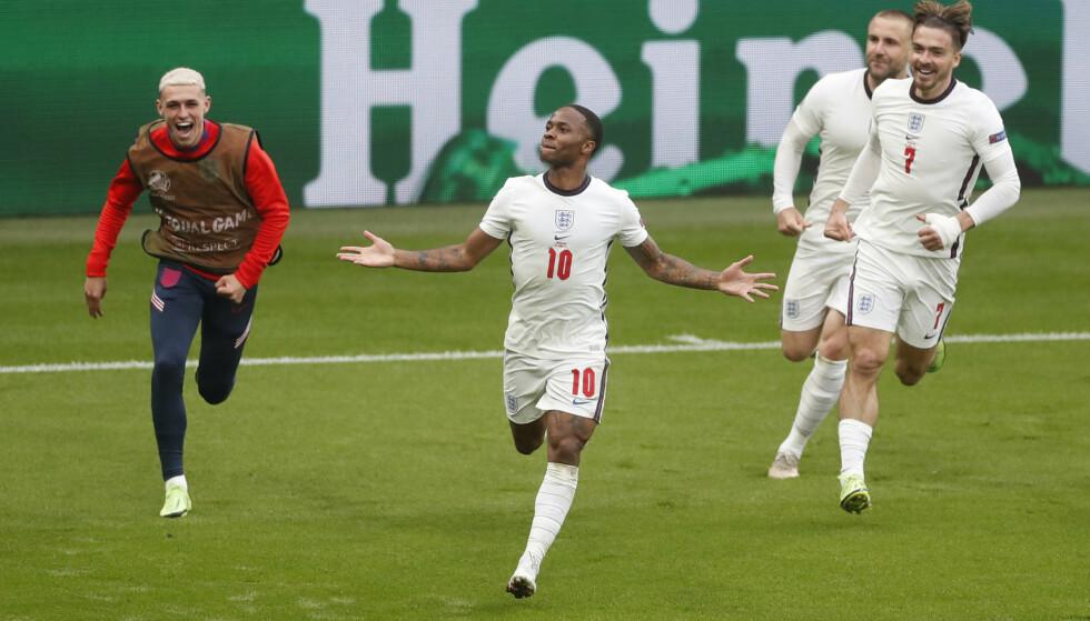 JUBLER: Raheem Sterling har herjet for England så langt under EM, og kan være redningen til ditt fantasy-lag. Foto: Reuters