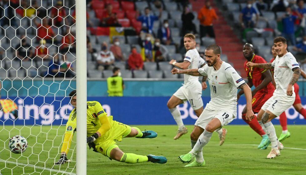 Gol annullato: Leonardo Bonucci non ha segnato.  Foto: Christoph Stach / Piscina / AFP / NDP