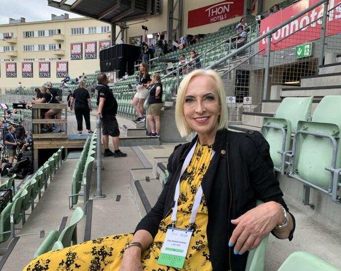 Pensioner: Dougladt met Karen-Marie Elfison at the Bislett Games on Thursday.  Photo: NDP