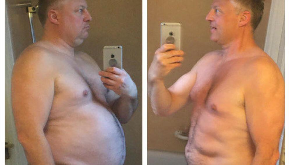 RASK NEDGANG: Håvard Andreassen gikk ned 31 kilo på 120 dager, og ønsker seg ikke tilbake til sin tidligere livsstil.