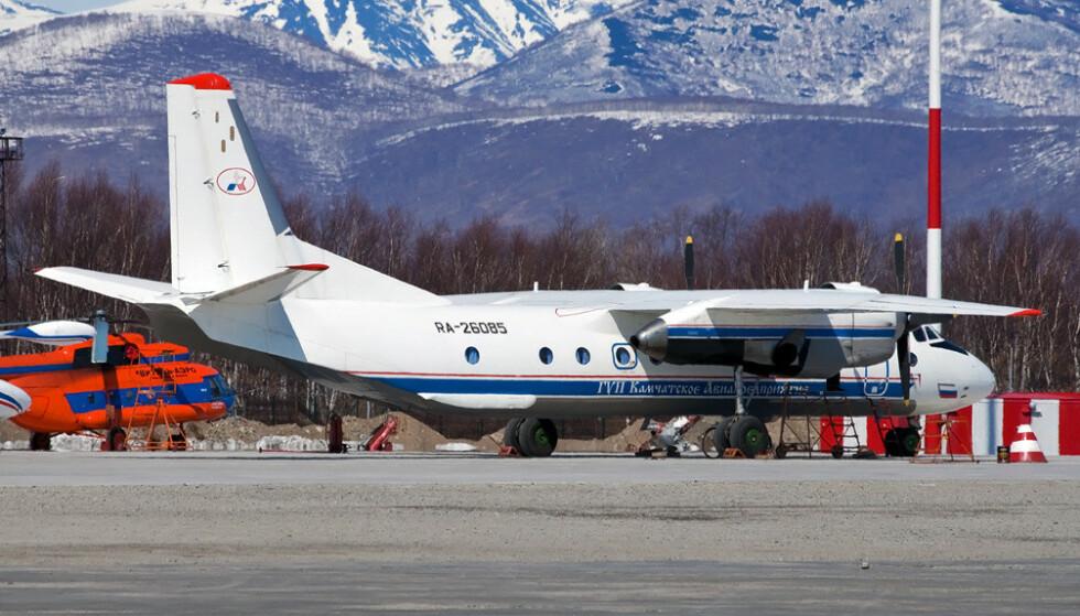 SAVNET: Det er dette flyet som nå er savner. Bildet er fra før det lettet. Foto: Beredskapsdepartementet i Russland