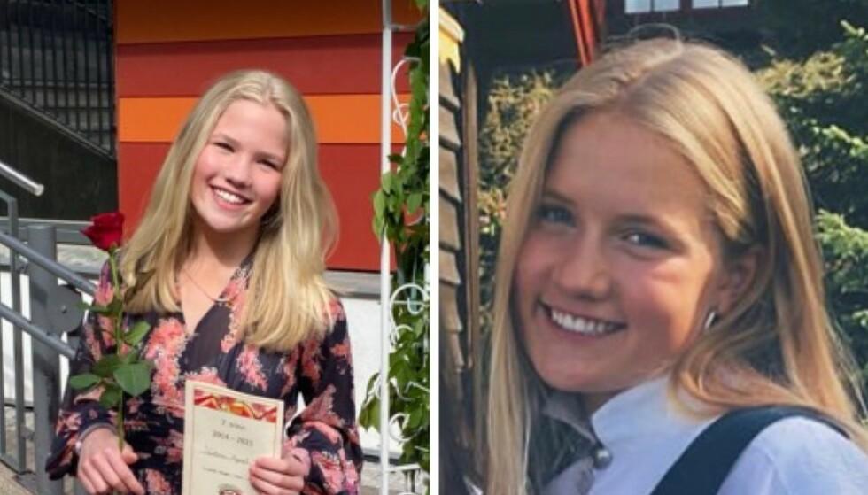 OMKOM: Søstrene Victoria Myrset (12) og Benedicte Myrset (18) fra Oslo døde da lynet slo ned mens de var på fjelltur. Foto: Privat / Politiet