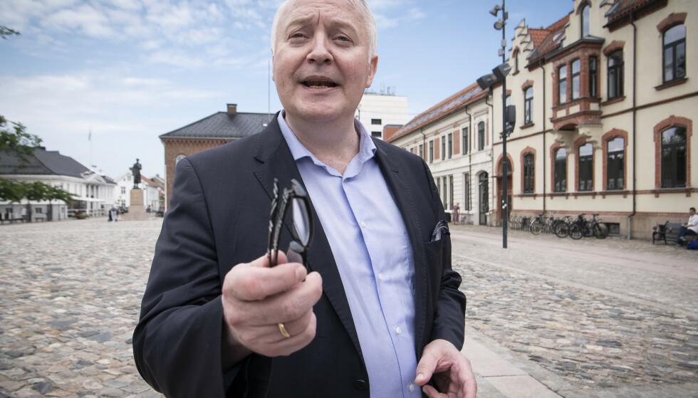 JUBLER: Demokratenes førstekandidat i Vest-Agder stråler etter nok en måling der han er inne på Stortinget. Foto: Lars Eivind Bones / Dagbladet