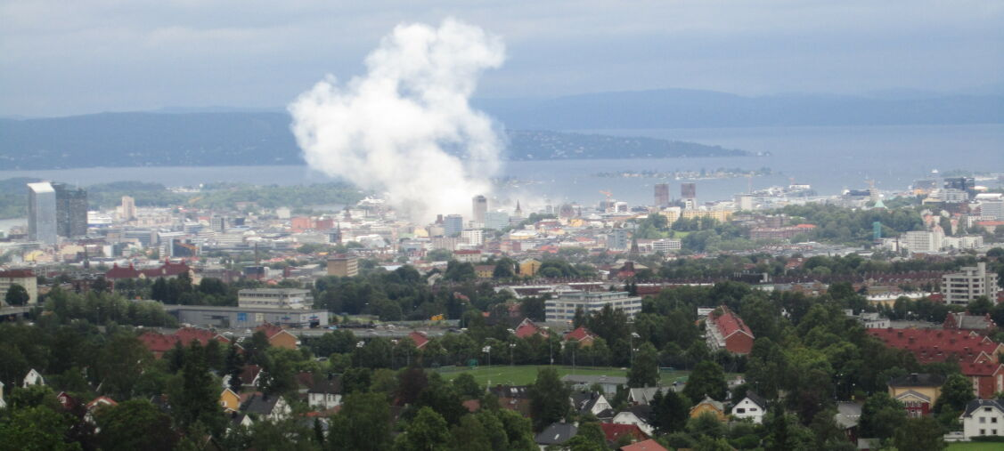 20110722 - Terrorangrepet Oslo. Ryken stiger opp fra Regjeringskvartalet. Foto: Tora Morset / Dagbladet