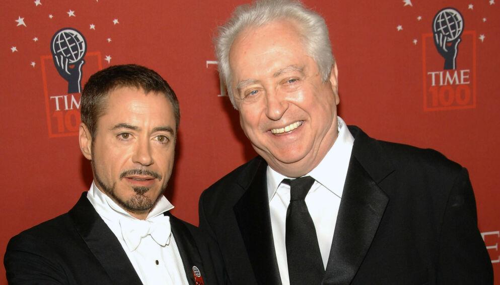 DØD: Robert Downey Sr er død. Her sammen med sønnen Robert Downey Jr i 2008. Foto: AP/NTB