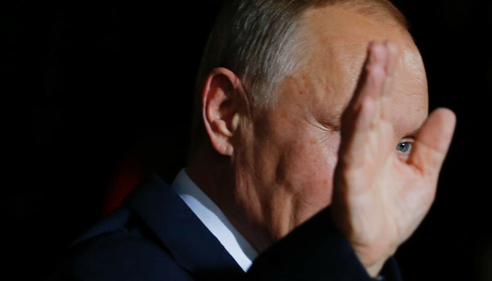 REDDE: Det er denne mannen, Russlands president Vladimir Putin, at nordmenn flest anser som en trussel mot verdensfreden. Foto:Odd Andersen / AFP / NTB