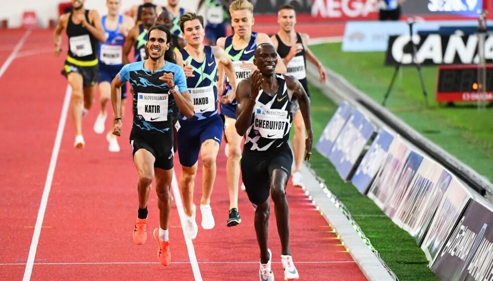 NÅDDE IKKE FRAM: Jakob Ingebrigtsen er i flott form, men konkurransen er hard på 1500 meter. Hvem han møter i OL er imidlertid svært uvisst. FOTO: AFP/ CLEMENT MAHOUDEAUL