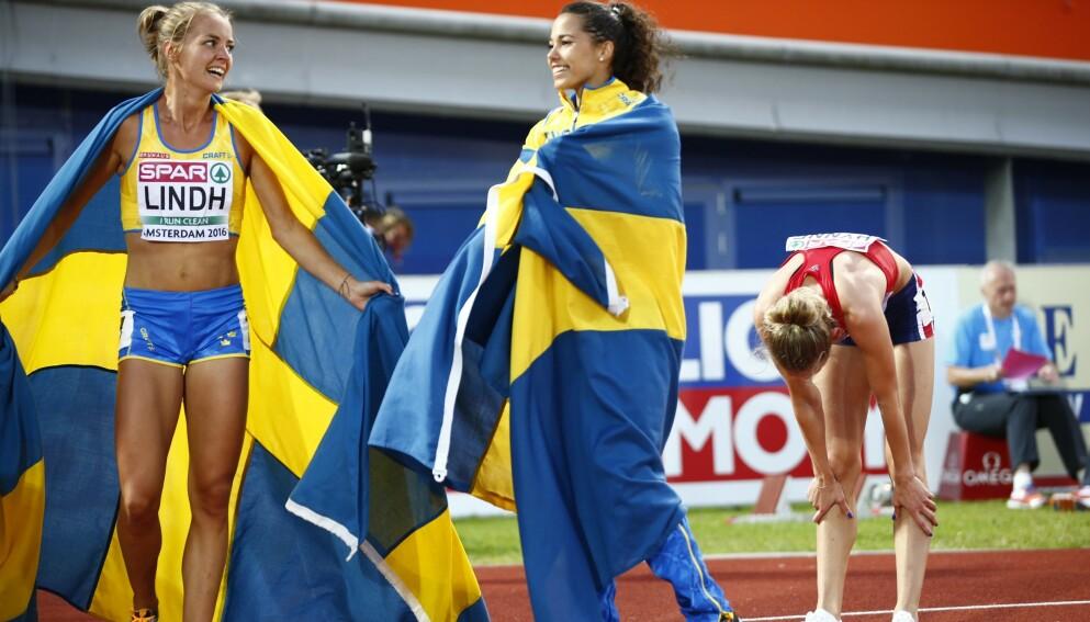 EM-BRONSE: Sommeren 2016 imponerte Lovisa Lindh med bronse i EM. Rett etter ble hun nummer ni på 800 meter i Rio-OL. Så ødela skader karrieren i flere år framover. Først denne sesongen er hun tilbake i toppen bedre enn noen gang. Men nå er hun ikke bra nok for den svenske OL-komiteen. Den fadesen viser Sveriges olympiske svakhet. FOTO: Heiko Junge / NTB