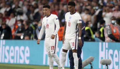 RADARPAR: Om alt går etter planen blir Jadon Sancho (t.v) og Marcus Rashford lagkamerater i United. Foto: Carl Recine/Pool Photo