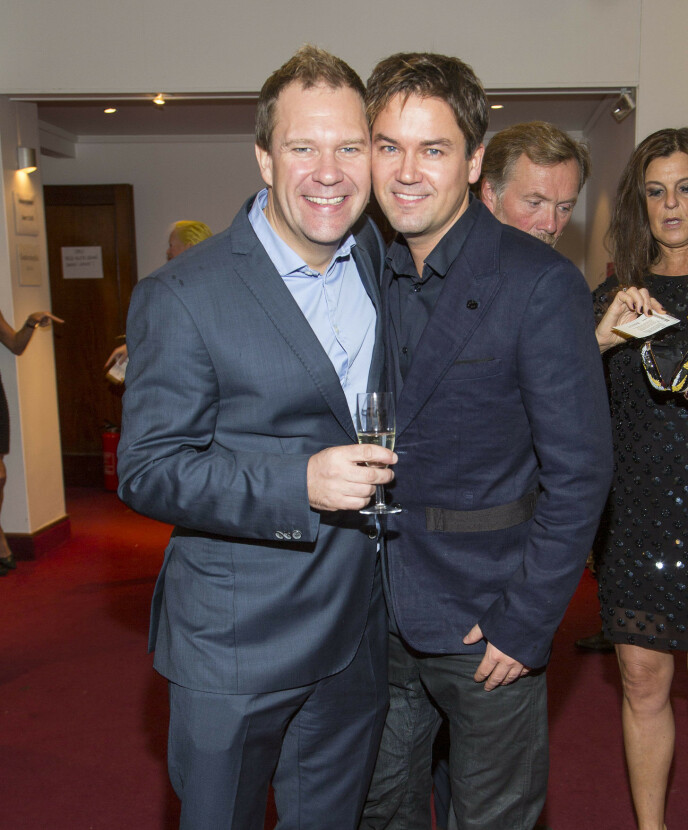 EKSEN: Bjarte Hjelmeland har tidligere vært sammen med Terje Stenstad. Her er de i 2013. Foto: Tor Lindseth / Se og Hør