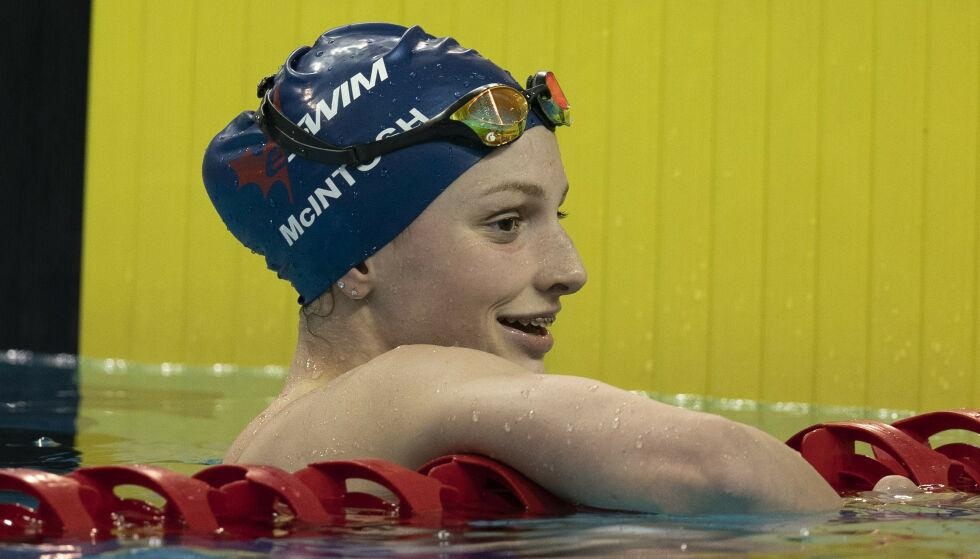IMPONERER: Summer McIntosh har tatt store steg i bassenget. Foto: Frank Gunn/The Canadian Press via AP/NTB