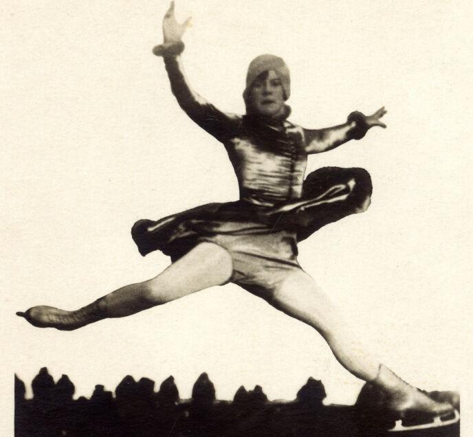 TIDLIG UTE: Sonja Henier var bare elleve år gammel da hun deltok i sitt første OL. Foto: Historia/REX/NTB