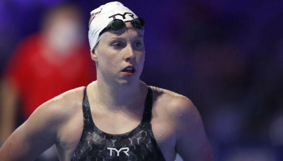 SYND: USAs Lilly King kommer til å savne McDonalds i OL. Foto: AFP