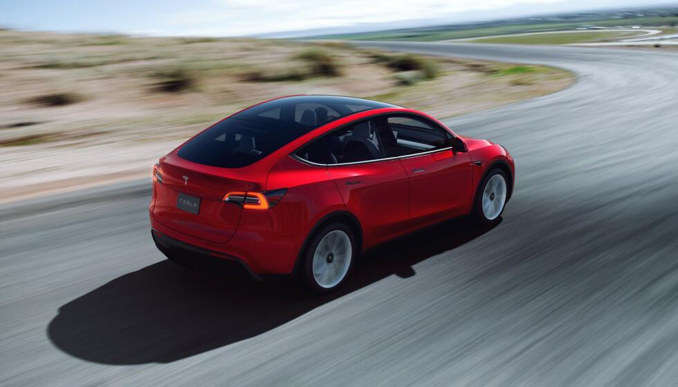 I august leveres de første Tesla Model Y til norske kunder. Den mellomstore SUV-en er ventet å bli Teslas neste storselger i Norge.