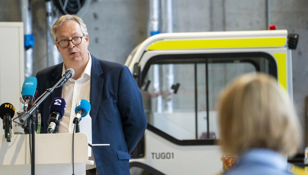 SVARER: Statssekretær Thor Kleppen Sættem (H). Foto: Terje Pedersen / NTB