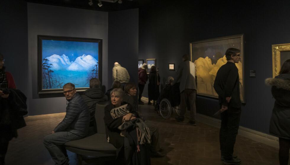 FLYTTES: Utstillingen «Harald Sohlberg. Uendelige landskap», var siste utstilling da Nasjonalgalleriet stengte dørene for godt i 2019. Kunstsamlingen flyttes til det nye Nasjonalmuseet som åpner i 2022. Foto: Heiko Junge / NTB