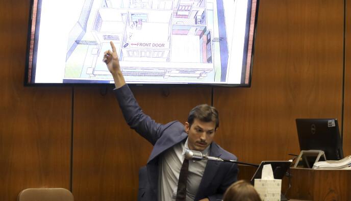 VITNET: Ashton Kutcher vitnet i retten i slutten av mai, etter kjæresten hans ble drept av Gargiulo i 2001. Foto: Genaro Molina/Los Angeles Times via AP/ Pool/ NTB