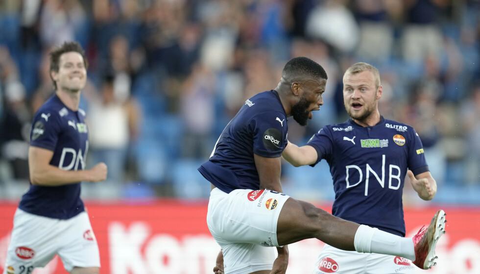 MATCHVINNER: Fred Friday ble matchvinner etter å ha satt inn 2-1 mot Stabæk: FOTO: NTB
