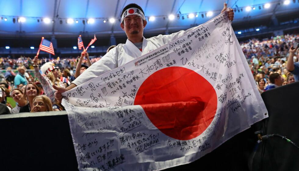 SUPERFAN: Japanske Kazunori Takishima er en trofast supporter når det kommer til de olympiske lekene. FOTO: Reuters