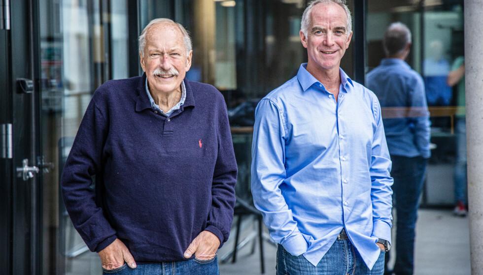 RADARPAR: Christian Paasche og Johan Kaggestad har ledet Tour de Frances sendinger haugevis av år på TV 2, før sønn Mads Kaggestad steppet inn i år. Foto: TV 2