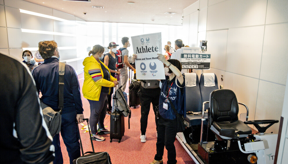 FULL KONTROLL: Ting gikk radig unna på Haneda flyplass i Tokyo. Foto: Bjørn Langsem