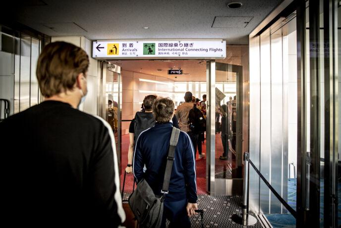 PÅ PLASS I TOKYO: Dagbladet var framme litt før 15 lokal tid. Foto: Bjørn Langsem