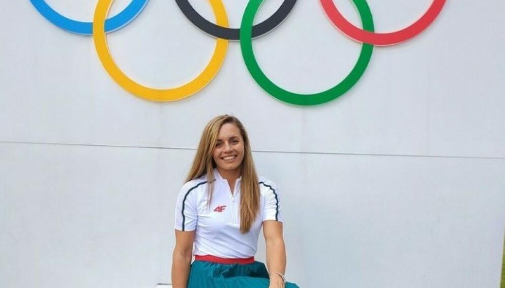 SENDT HJEM: Alicja Tchórz kom seg til Tokyo, men ble sendt hjem før lekene starter. Foto: Instagram