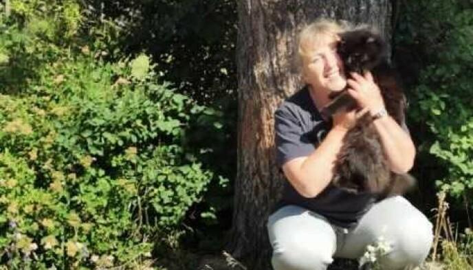 KULING: Det var på katten Kuling at Byrkjeland fant flåtten som endte opp i syltetøyglasset. Foto: Privat
