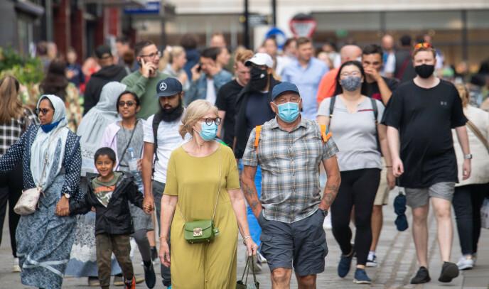 GJENÅPNET: Storbritannia har lettet de fleste av restriksjonene. Foto: Dominic Lipinski / Pa Photos