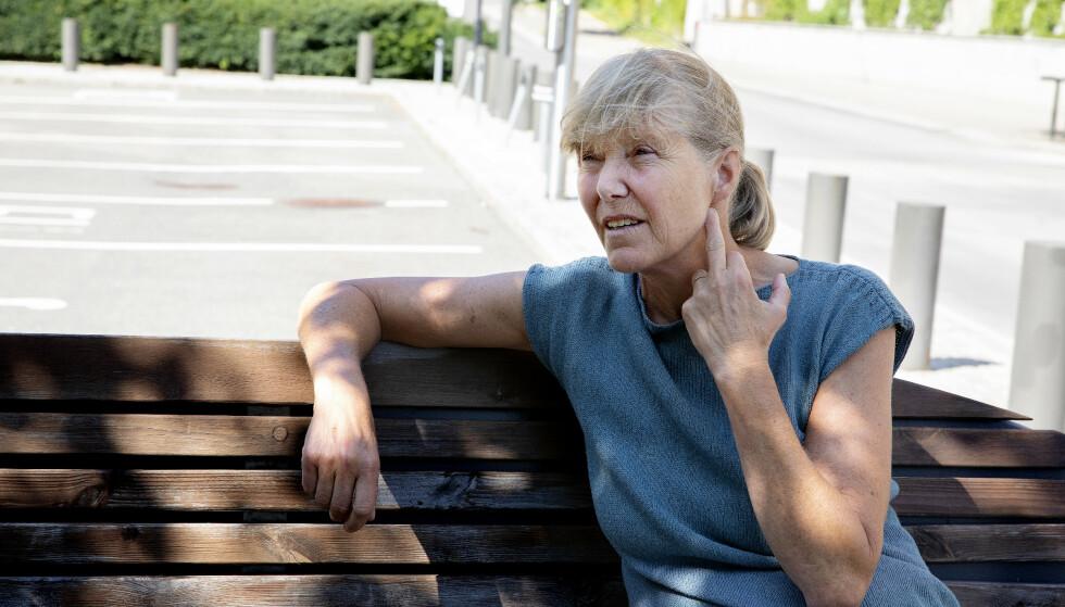 BLE KJENT: Line Nærsnes jobbet i Justis- og beredskapsdepartementet da bomben gikk av. Hun fikk en pinne gjennom hodet, men kom fra hendelsen uten større skader. Foto: Kristin Svorte / Dagbladet